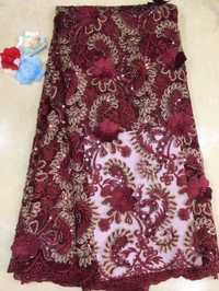 Increíble tela de encaje francés/Tela de encaje africano de grado superior con cuentas para vestido de fiesta