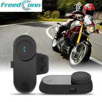 FREEDCONN TCOM-02 casco de motocicleta Interphone Kit de comunicación casco auriculares Bluetooth para casco de cara completa