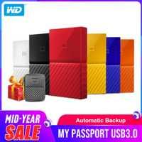 Western Digital DISQUE DUR Portable 1 TB 2 TB 4 TO My Passport USB 3.0 Disque Dur Externe Disque avec DISQUE DUR câble Windows Mac Livraison Gratuite