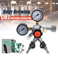 CO2 regulador de dióxido de carbono para casa cerveza Bar Triple de válvula de 5/16