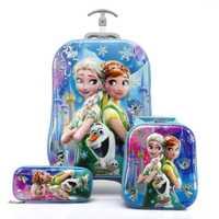 Sac à dos à roulettes pour enfants sac à dos d'école avec chariot à roues bagages pour garçons filles sac d'école avec roue sac cadeau étanche