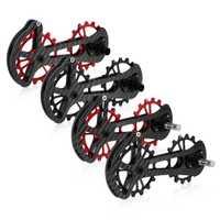 16 t bicicleta de cerámica cojinete de Jockey de la polea de la rueda conjunto de fibra de carbono CNC desviadores guía para Shimano 6800/6870 /4600/9000/9070