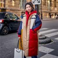 Harajuku estilo abrigo de invierno de moda de las mujeres de Color chaqueta Parka mujer 2019 nueva llegada de gran tamaño para mujer de algodón acolchado chaqueta