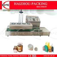 HZPK Escritorio de cubierta de acero inoxidable electromagnética automática de máquina de sellado de continua sellador de inducción máquina de 20-80mm