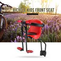 Bebé asiento de bicicleta niños seguridad portador asiento silla con respaldo pedales