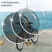 1,56 fotocrómico marrón o gris progresivo SPH rango-6,00 sp+ 5,50 Max CLY-4,00 añadir + 1,00 ~-+ 3,50 lentes ópticos para gafas