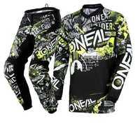 Envío Gratis 2018 nuevo para Motocross Motobiker Racing ciclismo sudadera + Pantalones de motocicleta MX ATV Buggy vestido verde