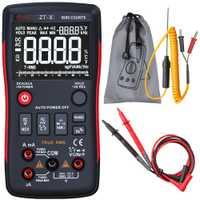 BSIDE ZT-X multímetro Digital de verdadero valor eficaz (RMS) 3-línea Triple pantalla 9999 cuenta AC/tensión DC de capacitancia de temperatura de DMM