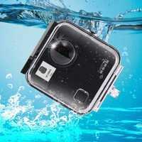 Bajo el agua, 45 M impermeable carcasa buceo Carcasa protectora para GoPro fusión 360 deportes de agua, cámara de acción