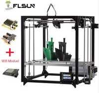 2019 nuevo 3d impresora Kit de cubo de gran tamaño de impresión de marco de Metal de doble extrusora impresora 3D Wifi de nivel uno rollos filamento de tarjeta SD