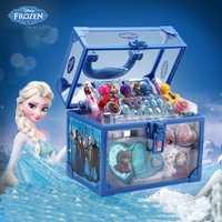 Disney Frozen enfant cosmétique princesse boîte de maquillage valise rouge à lèvres fille jouet cadeau pour enfants semblant jouer ensemble cosmétique pour enfant