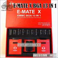 2018 más nuevo Emate caja de compañero X EMMC BGA 13 en 1 Apoyo BGA100/136/168/ 153/169/162/186/221/529/254 para fácil jtag más UFI caja
