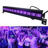 12 LED Disco UV negro violeta luces DJ 36 W Par lámpara UV fiesta lámpara de la barra de luz láser etapa arandela de la pared del punto de luz de fondo