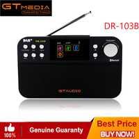 DR-103B GTMEDIA Digital portátil DAB + DAB Radio FM DAB RDS espectro Receptor BT 4,0 altavoz estéreo Receptor de 2,4 pulgadas pantalla