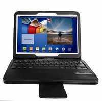 Desmontable Bluetooth 3,0 inalámbrico teclado desmontable de cuero cubierta de la caja para Samsung Galaxy Tab 4 10,1 T530 T531 T535 10,1