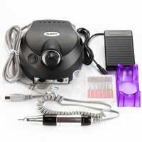 Pro 220/110 V negro Eléctrico Lima Buffer Bits máquina Set eléctrico uñas arte taladro manicura pedicura uñas herramienta Kit