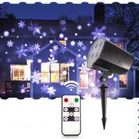 Thrisdar nuevo al aire libre Nevada lámpara IP65 moviendo la nieve al aire libre de Navidad copo de nieve luz de la etapa láser proyector