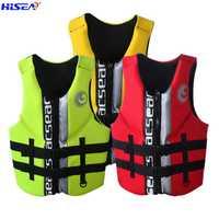 Hisea Haute qualité professionnel néoprène adulte vie vestes épais d'eau flottant surf plongée en apnée pêche course gilet Portable