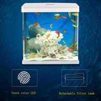 2019 nuevo de alta tecnología táctil decoloración LED tanque escritorio ecológico paisaje peces del tanque del acuario 15 w