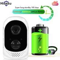 Hiseeu PIR 10400mA batería recargable al aire libre cámara IP inalámbrica impermeable CCTV Full 1080 p detección de movimiento Microshare