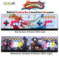 Caja de Pandora 5 960 juegos 2 reproductores 8 Botones consola Red/Circle/Wolverine superficie HDMI VGA salida video TV HD 720 P HD usb a PC ps3