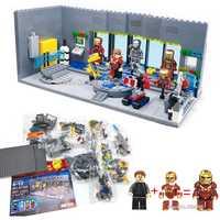 Iron Man Underground laboratorio base extraíble uñas Mech figuras armas bloques de construcción compatible legoinglys Super hero