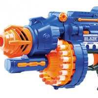 Pistolets électriques en plastique souple élastique tiré des balles pour combattre 20 rafales de Sniper Parent-enfant jouets de pistolet de terrain pour les enfants