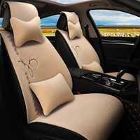 Funda de asiento de coche de lana, fundas de asiento de piel calefactora, almohadones de coche, set de accesorios de interior de invierno, universal para coches