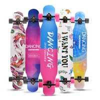 Tabla Longboard profesional completa patineta calle baile Longboard Skateboard Downhill Maple Deck Board