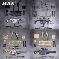 1/6 JUEGO DE ARMAS DE subpistola de VECTOR táctico modelo de armas de fuego para colección de accesorios de figura de soldado de 12 pulgadas