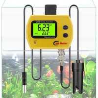 Medidor de temperatura de pH profesional en línea portátil acidimetro acuario medidor de calidad de agua potable 0,01 PH Analizador de electrodos