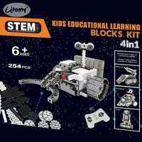 DIY RC bloques 4 en 1 Construcción RC robótica Vechicles motorizado exploración del espacio ciencia Robots vástago educativos kit modelo