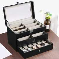 Cajas de almacenamiento para gafas portátiles de tres niveles
