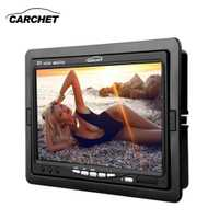 CARCHET Monitor de coche de 7 pulgadas TFT LCD coche CCTV DVD inversa cámara de Vista trasera Monitor amigo NTSC coche monitores Cámara DVD DC 12 V 6 W