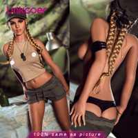 Linkooer 166cm réel Silicone poupée de sexe réaliste marin lune 3 trous adulte amour poupée petit sein Sexy cul jouets sexuels pour hommes