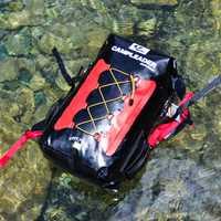 Mochila impermeable al aire libre de hombro completo de Río de rafting snorkeling 35L deportes al aire libre equipos de senderismo de Río bolsas