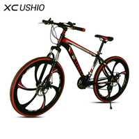 Bicicleta de Montaña 21 velocidad a 26 pulgadas bicicleta de doble disco de freno de una rueda de velocidad Variable de la bicicleta de acero al carbono MTB ciclismo bicicleta
