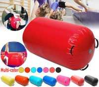 Livraison gratuite 120x60 cm Fitness gonflable Air rouleau maison grand Yoga gymnastique cylindre Gym tapis faisceau chaud