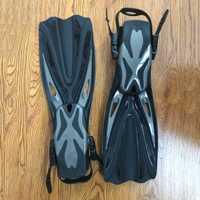 GARDER la PLONGÉE Ouvert Talon Plongée sous-marine Longues Nageoires Plongée En Apnée Réglable Palmes De Natation Spécial Pour la Plongée Bottes Chaussures Vitesse