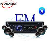 Panel desmontable BT Bluetooth auto Radio estéreo con Control remoto FM AUX USB tarjeta SD 1 DIN CD DVD MP3 jugador de Audio de música