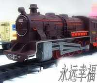 ¡Envío gratis! tren de vapor largo de 9,4 metros tren de juguete eléctrico trenes para niños camión para niños ferrocarril regalo de cumpleaños