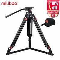 Ofertas Especiales miliboo MTT609A profesional de aluminio de vídeo trípode del trípode manfrotto