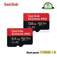 SanDisk Extreme PRo microSDXC UHS-I GB 64 GB 128 GB tarjeta de memoria micro SD tarjeta TF tarjeta 170 MB/S Class10 U3 A2 con adaptador SD de 100% Original