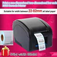Nuevas impresoras de etiquetas de código de barras ropa térmica impresora compatible con impresión de 80mm obtener etiquetas papel 1 rollo de papel de impresión de etiquetas