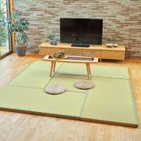 4,5 cm de espesor/5,0 cm/5,5 cm japonés Interior Tatami de núcleo de fibra de esterilla de paja piso colchón suelo de Tatami Mat