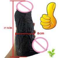 27,5*8 cm realista dilatador enorme pene grande dong anal pareja coqueteo erótico juguetes sexuales para mujer masturbación Vaginal culo