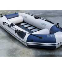 Caoutchouc résistant à l'usure stratifié gonflable de bateau de pêche de matériel de PVC de bateau de 3 personnes avec des pompes de rames