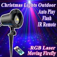 RGB luces Navidad láser proyector al aire libre impermeable con control remoto ir para el hogar Decoración Navidad árbol Iluminación para fiestas