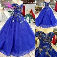 Vestido de novia aijinyu precio Vintage vestidos de novia de encaje tul Cap recortado diseño princesa vestidos rústico vestido de novia
