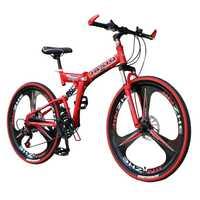 26 pulgadas bicicleta de montaña 21 velocidad plegable bicicleta de montaña doble freno de disco de bicicleta nueva plegable bicicleta de montaña para adultos